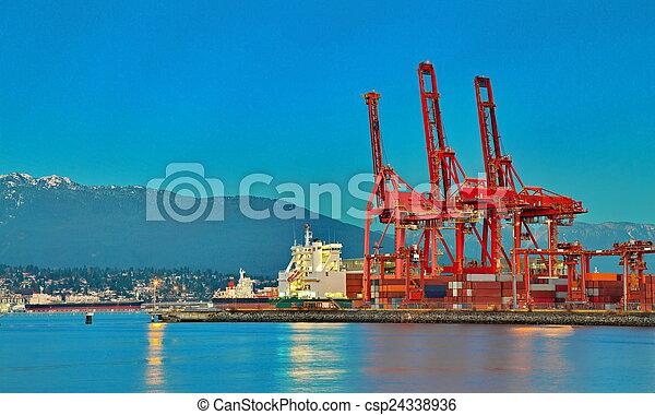 vancouver, port - csp24338936