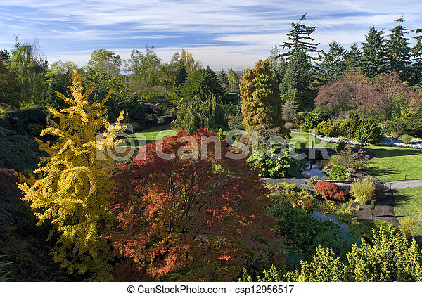 Vancouver - Queen Elizabeth Park in the fall - csp12956517