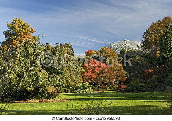 Vancouver - Queen Elizabeth Park in the fall - csp12956598