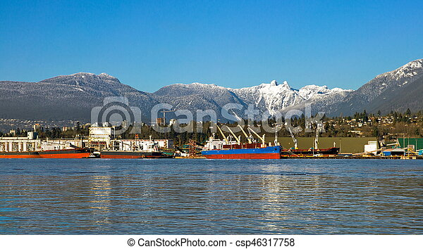 vancouver's, nord, port, mer - csp46317758