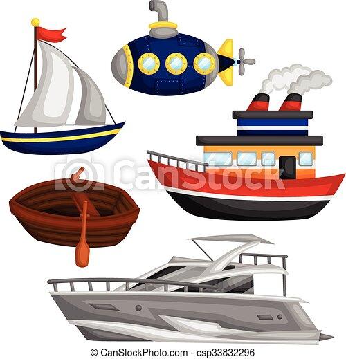 vand, sæt, transport, vektor - csp33832296