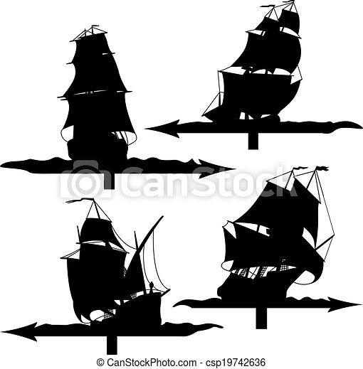 Segelschiffe Wetterwagen. - csp19742636