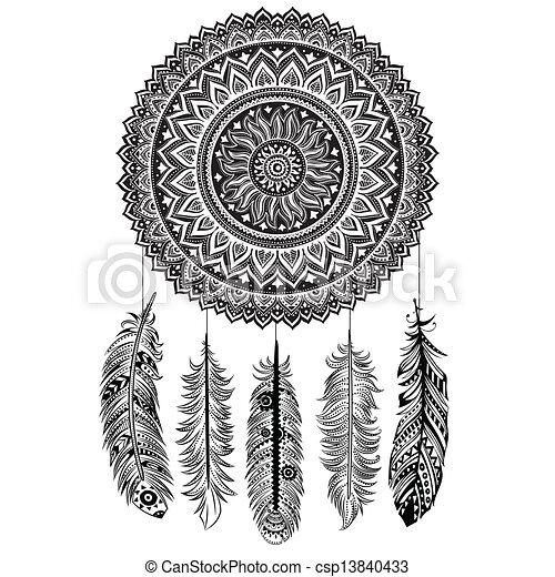 vanger, droom, ethnische  - csp13840433