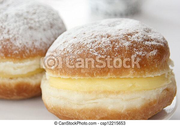 vanilla cream Berliner - csp12215653