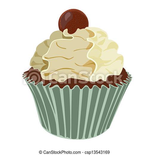 Vanilla Cream Cupcake - csp13543169