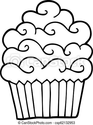 Vanille Noir Blanc Dessin Animé Petit Gâteau