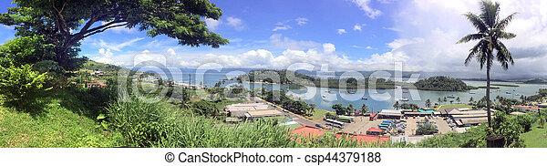 vanua, savusavu, levu, panoramico, figi, paesaggio, vista - csp44379188