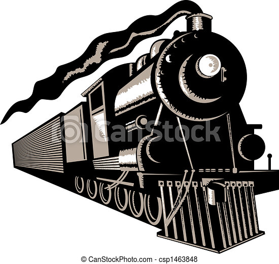 vapeur, locomotive - csp1463848