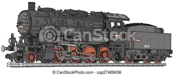 vapor, locomotiva - csp27468436