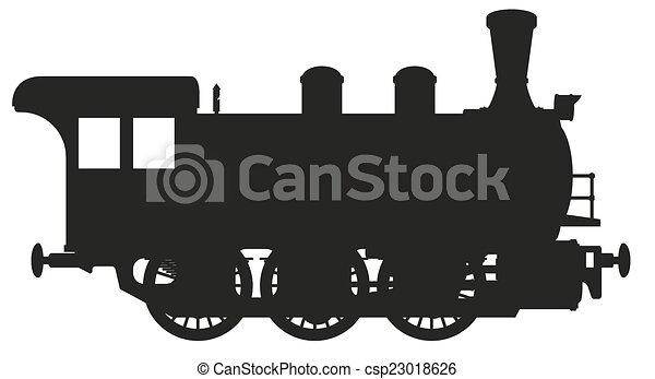 Locomotora de vapor - csp23018626