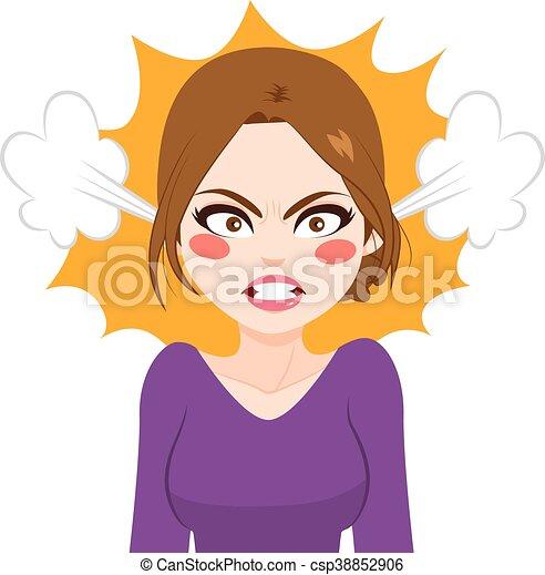 Mujer furiosa - csp38852906