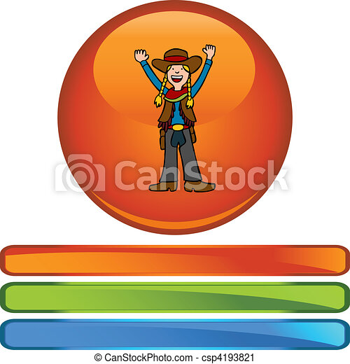 Cowgirl - csp4193821