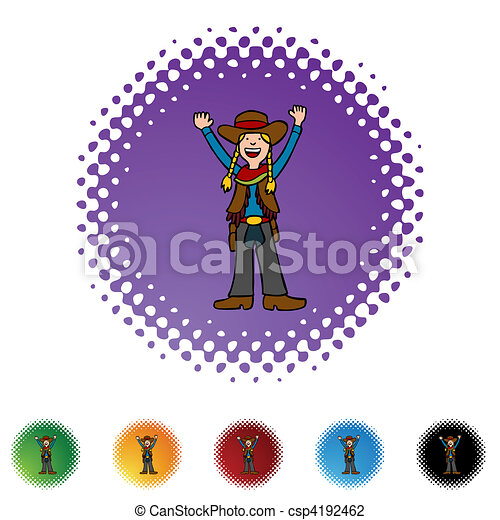 Cowgirl - csp4192462