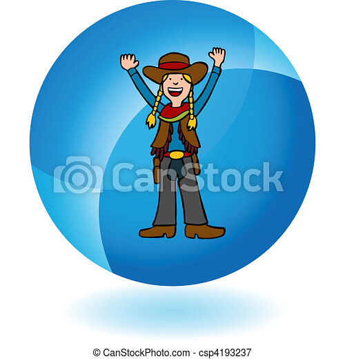 Cowgirl - csp4193237