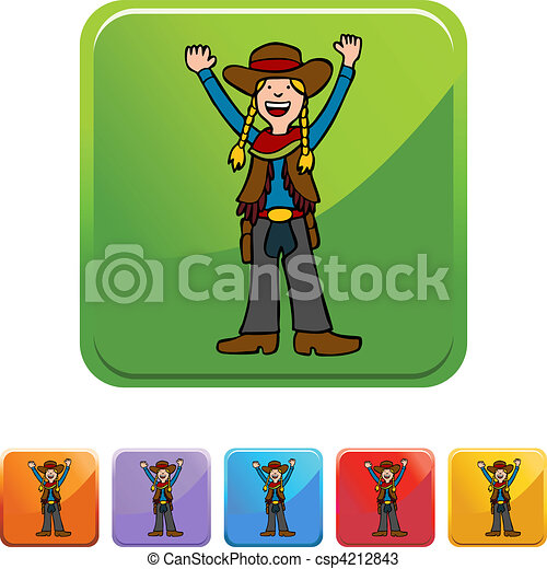 Cowgirl - csp4212843
