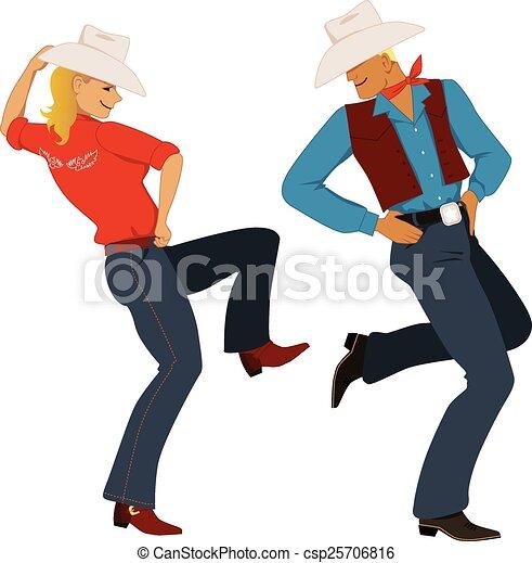 Vaquero bailando - csp25706816