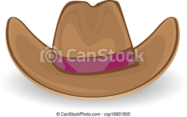 e0b8371b1a8 Vaquero, vector, illustration., hat.