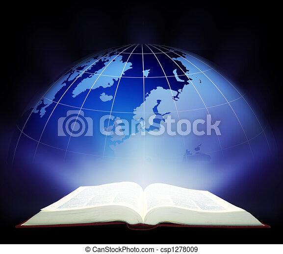 varázslatos, könyv, nyílik - csp1278009