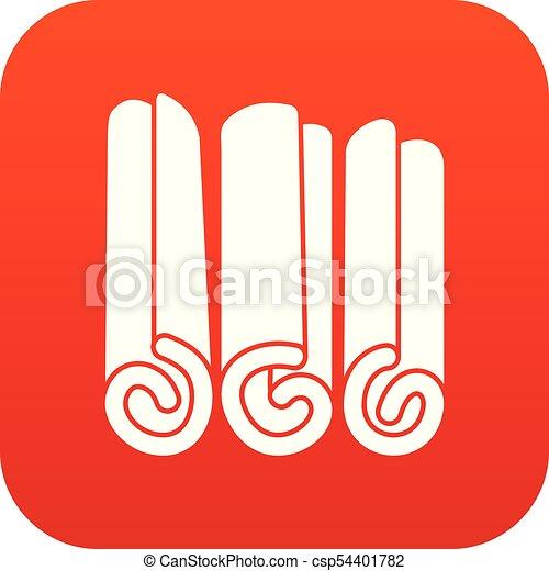 varas, ícone, canela, vermelho, digital - csp54401782