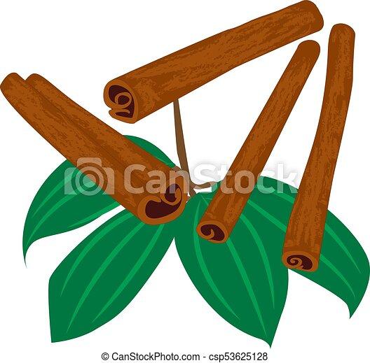 varas, canela, isolado, ícone, tempero - csp53625128