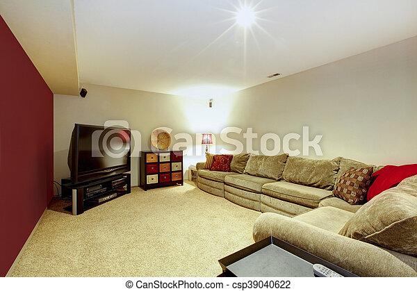 röd matta vardagsrum