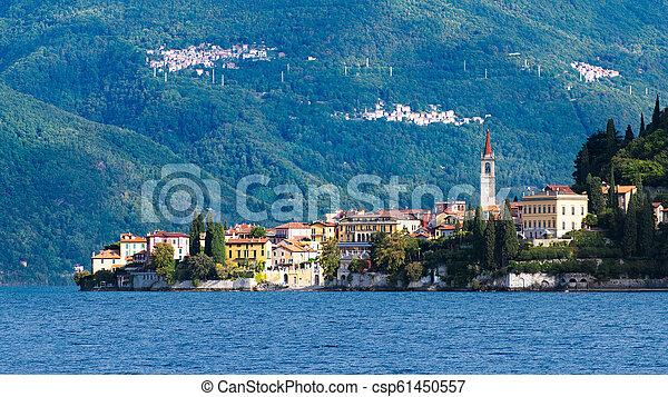 Varenna on Lake Como Lecco Lombardy Italy - csp61450557