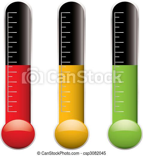 La variación del termómetro - csp3082045