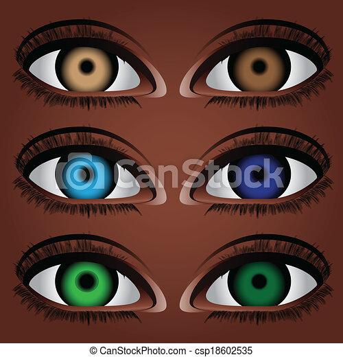 varianten, ögon, mänsklig - csp18602535