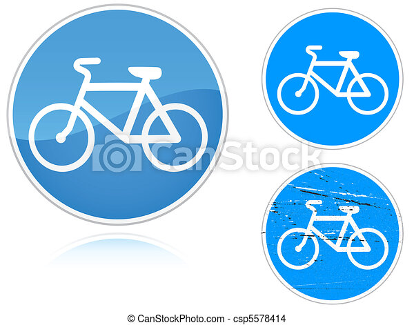 Variants a Bicycle path - road sign - csp5578414