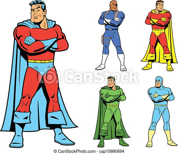 variatio, superhero, klasszikus, friss - csp10990694