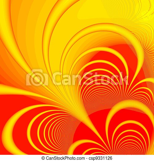 Varicoloured Abstract Background Expressing Harmony Of Lines And Force Color Stock Illustration