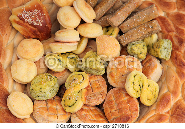 Variety of bread - csp12710816