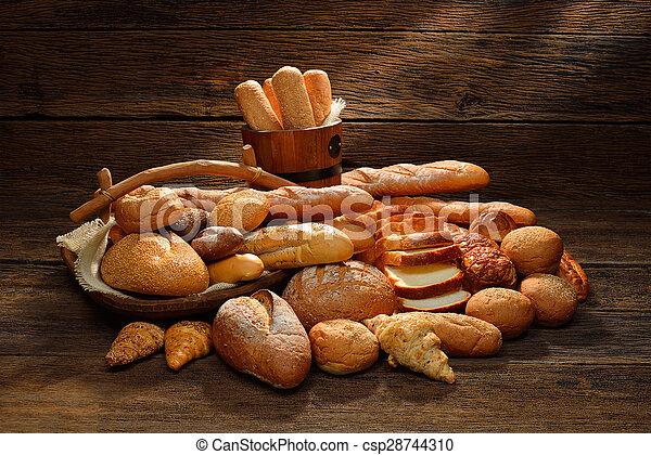 Variety of bread - csp28744310