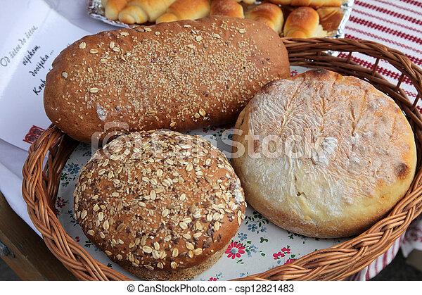 Variety of bread - csp12821483