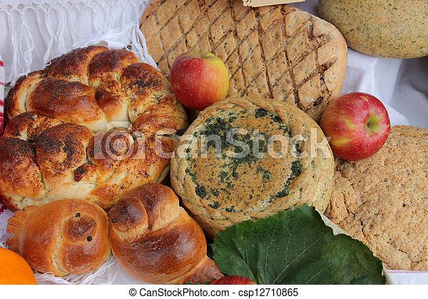 Variety of bread - csp12710865