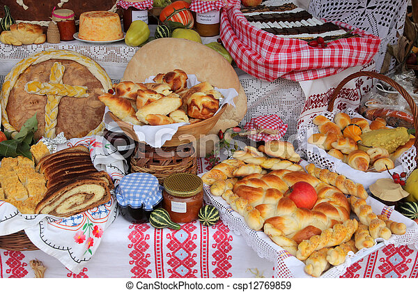 Variety of bread - csp12769859