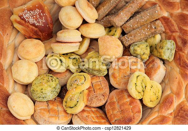 Variety of bread - csp12821429