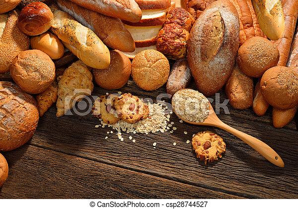 Variety of bread - csp28744527