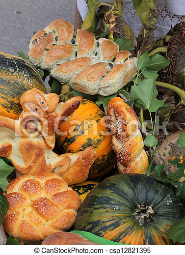 Variety of bread - csp12821395