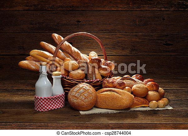 Variety of bread - csp28744004