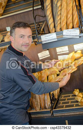variety of bread - csp43379432