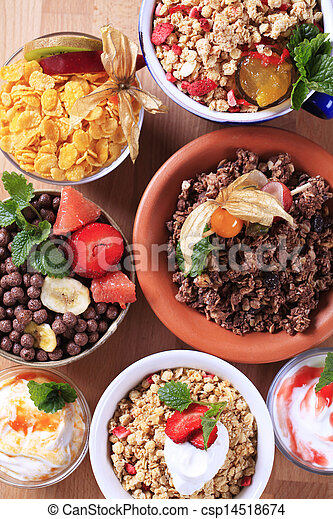 Variety of breakfast cereal - csp14518674