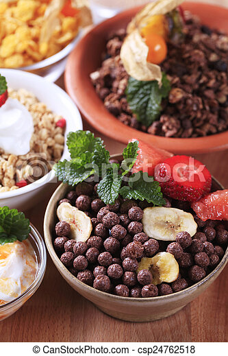 Variety of breakfast cereal - csp24762518