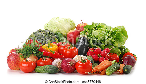 Variety of raw vegetables - csp5770448