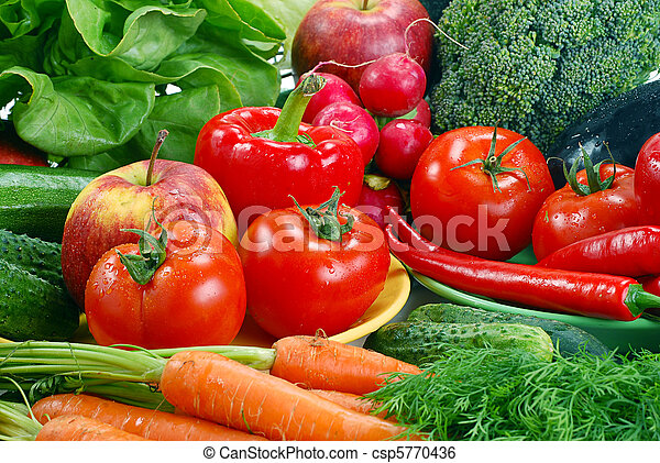 Variety of raw vegetables - csp5770436