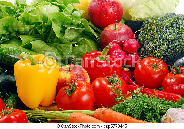 Variety of raw vegetables - csp5770445