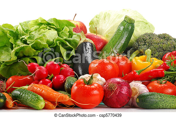 Variety of raw vegetables - csp5770439