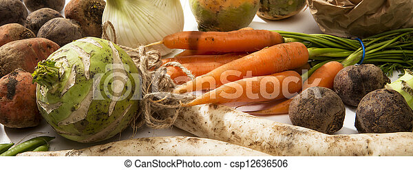 Variety of Raw Vegetables - csp12636506