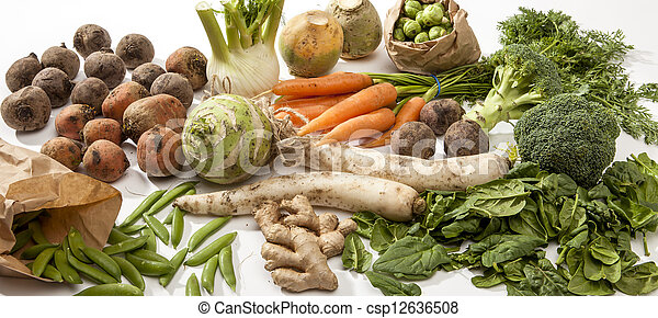 Variety of Raw Vegetables - csp12636508