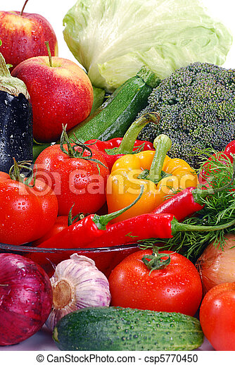 Variety of raw vegetables - csp5770450